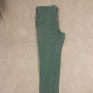 J.Crew Army Green Utility Ankle Pants- Size 8